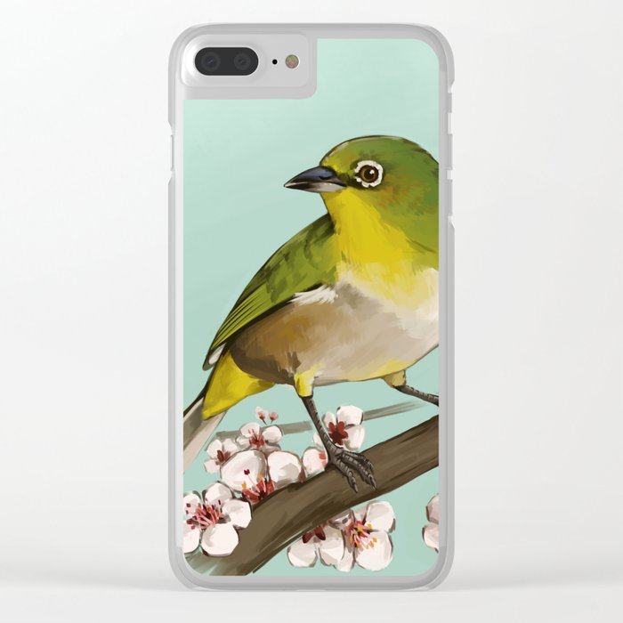 Cherry Blossoms Clear iPhone Case