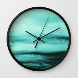Mint-Green Ocean Vibes #1 #decor #art #society6 Wall Clock
