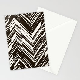 Zig zag monochrome pattern. Stationery Cards