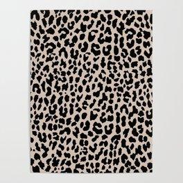 Tan Leopard Poster