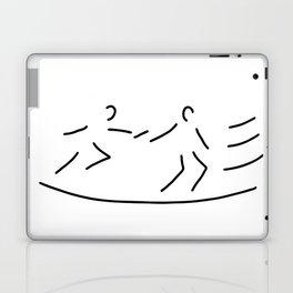 relay race athletics stick Laptop & iPad Skin