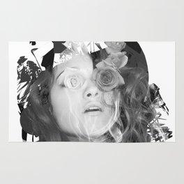 Fazed/Black & White Rug