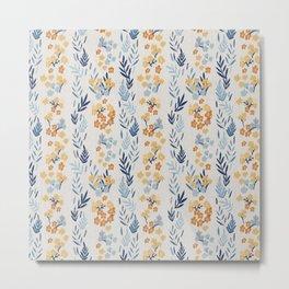 Oleander Floral Pattern Metal Print