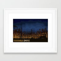 boardwalk empire Framed Art Prints featuring boardwalk empire by christopher-james robert warrington