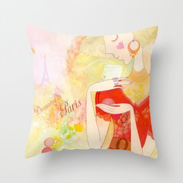 Dreaming in Paris  Throw Pillow