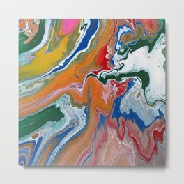 Melting Rainbow I Metal Print