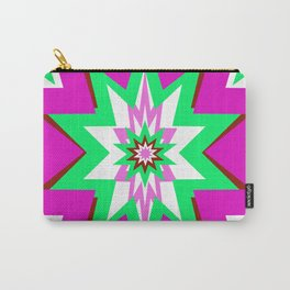 Star Graphic Pink and Green Abstract Carry-All Pouch