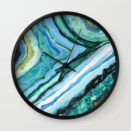 Caribbean Agate Slice by Lauren Tannehill Art Wall Clock