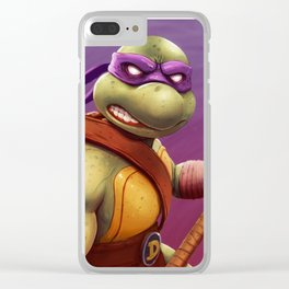 Donatello Teenage Ninja Mutant Turtles by Big Foot Studios Clear iPhone Case