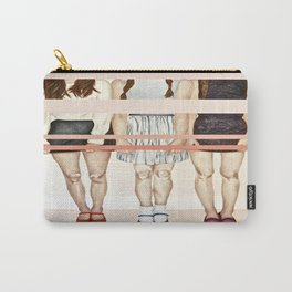 Three Girls & Stripes  Carry-All Pouch