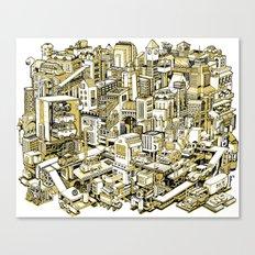 City Machine - Gold Canvas Print