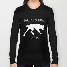 White Dog II Black Contours Jacob's 1968 fashion Paris Long Sleeve T-shirt