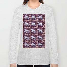 UNICORN PIZZA PATTERN PARTY Long Sleeve T-shirt