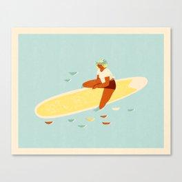 Aloha girl Canvas Print