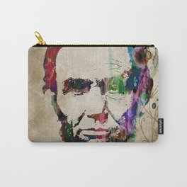 Abraham Lincoln Watercolor Modern Abstract GIANT PRINT ART Carry-All Pouch