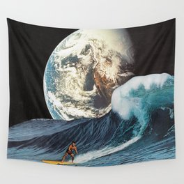 Lone Surfer Wall Tapestry