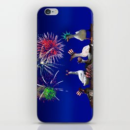 Ducky Celebration for the 4th of July iPhone Skin