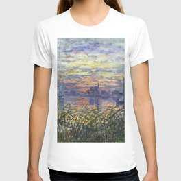 Claude Monet, French, 1840-1926 Marine View with a Sunset T-shirt