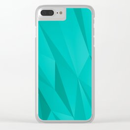 Geo Teal Clear iPhone Case