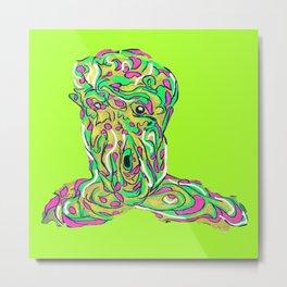 Toxic Melty Man (Green) Metal Print