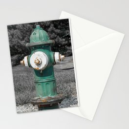 Mueller Super Centurion Green Bonnet and Barrel with White Caps Stationery Cards