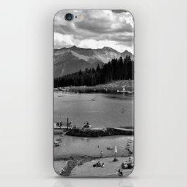 adventure park hög alps serfaus fiss ladis tyrol austria europe black white iPhone Skin