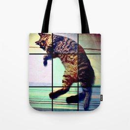 Cat (mosaico) Tote Bag