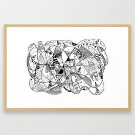 Squoodle 3 Framed Art Print