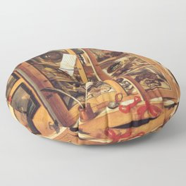 Cabinet of Curiosities Floor Pillow