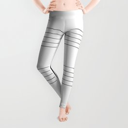 Blank Music Stave Leggings