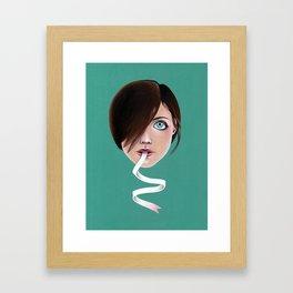 Script Lips Framed Art Print