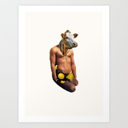 Muscle Cow Art Print