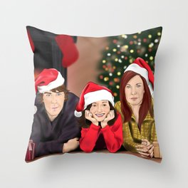 Merry Christmas - Argent Family Throw Pillow