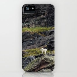 A Rocky Landscape and a Mountain Goat No. 1 iPhone Case