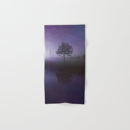 SOLITUDE IN TIME - PURPLE Hand & Bath Towel