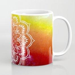 Flower of Life Mandala Orange Red Coffee Mug