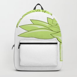 Buddha Sitting on Lotus Flower Drawing Backpack