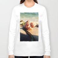 seashell Long Sleeve T-shirts featuring seashell by Vivian Fortunato