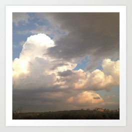 #258 #Landscape view after the #Storm Art Print