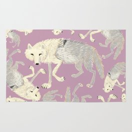 Totem Artic Wolf lilac Rug