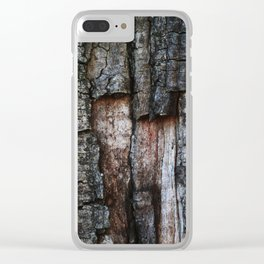 Tree Bark close up Clear iPhone Case
