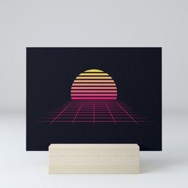 Retrowave sunset 2 / 80s - 90s Retro Mini Art Print