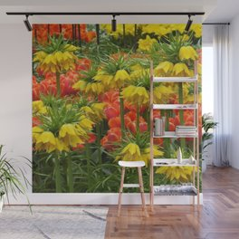 YELLOW CROWN IMPERIAL GREENHOUSE GARDEN Wall Mural