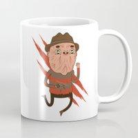 freddy krueger Mugs featuring Freddy by Daniel Mackey
