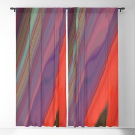 Splashes of Color (purple, corals, and gold) Blackout Curtain