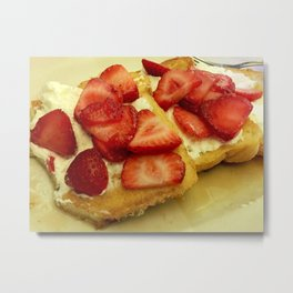 french toast with strawberries Metal Print