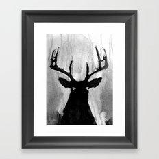 Whitetail - Buck Framed Art Print