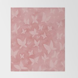 Blushing Butterflies Throw Blanket
