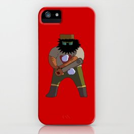 Chainsaw guy iPhone Case