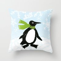 chill Throw Pillows featuring Chill by MollyBroadley